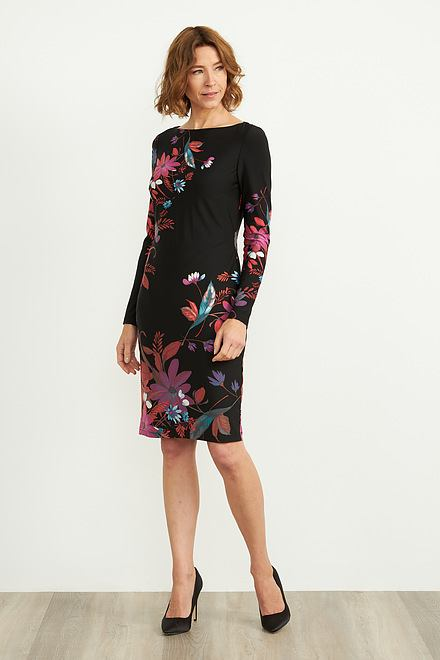 Joseph Ribkoff Robes Noir/Multi Style 204324
