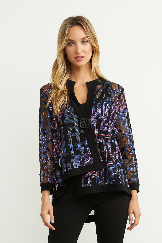 Joseph Ribkoff Purple/Multi/Black Jackets Style 204334