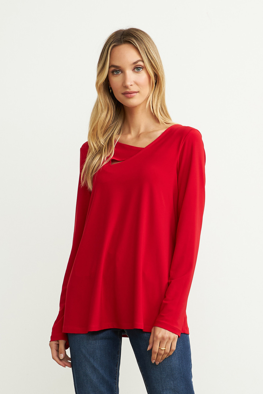Joseph Ribkoff Lipstick Red 173 Tunics Style 204376