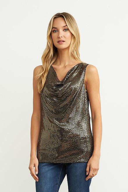 Joseph Ribkoff Black/Gold Tees & Camis Style 204377