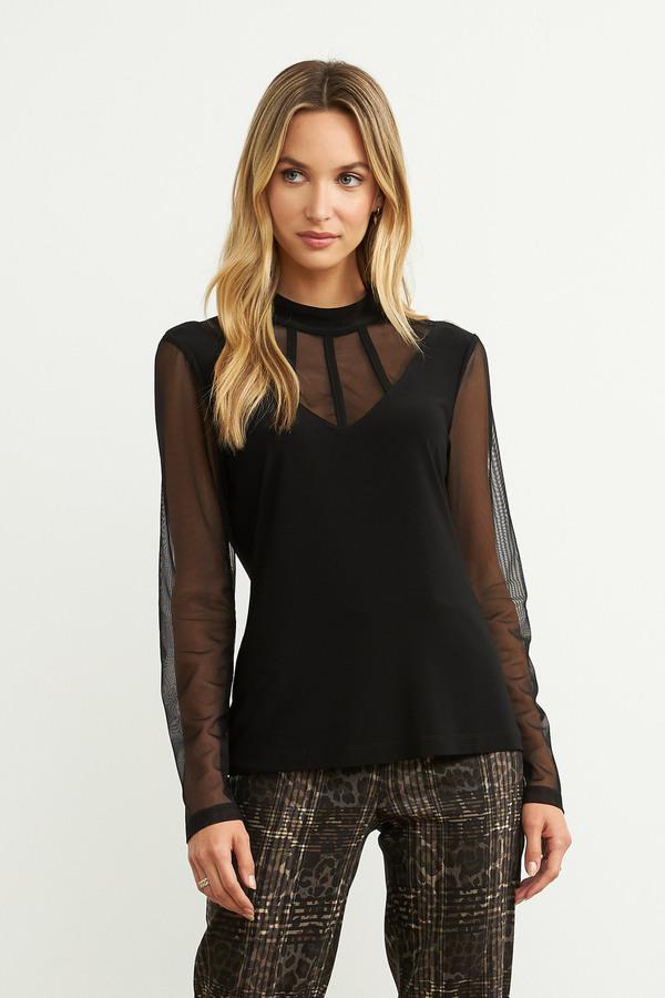Joseph Ribkoff Sheer Long Sleeve Top Style 204378