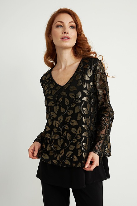 Joseph Ribkoff Black/Gold Tunics Style 204388