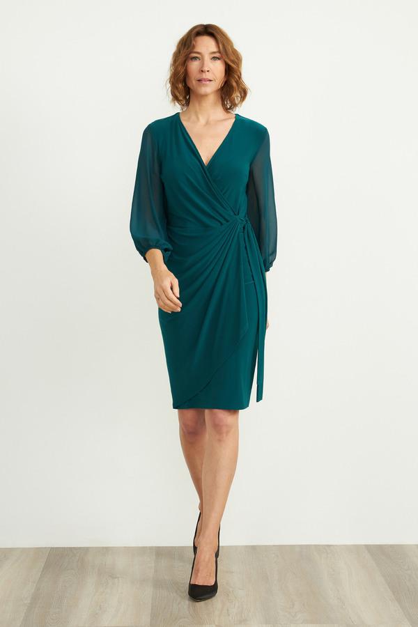Joseph Ribkoff Wrap Dress Style 204411. Evergreen