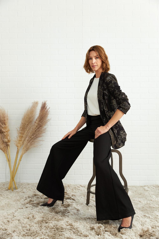 Joseph Ribkoff Black/Gold Blazers Style 204418
