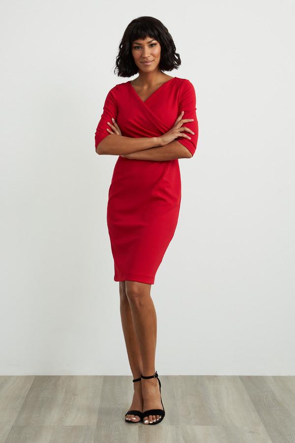 Joseph Ribkoff Lipstick Red 173 Dresses Style 211010
