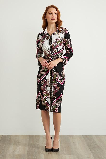 Joseph Ribkoff Black/White/Multi Dresses Style 211024
