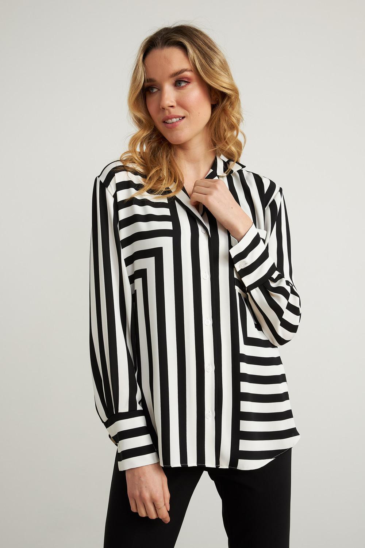 Joseph Ribkoff Vanilla/Black Shirts & Blouses Style 211025