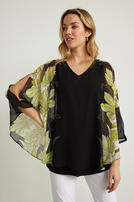 Joseph Ribkoff Black/Multi Tunics Style 211030