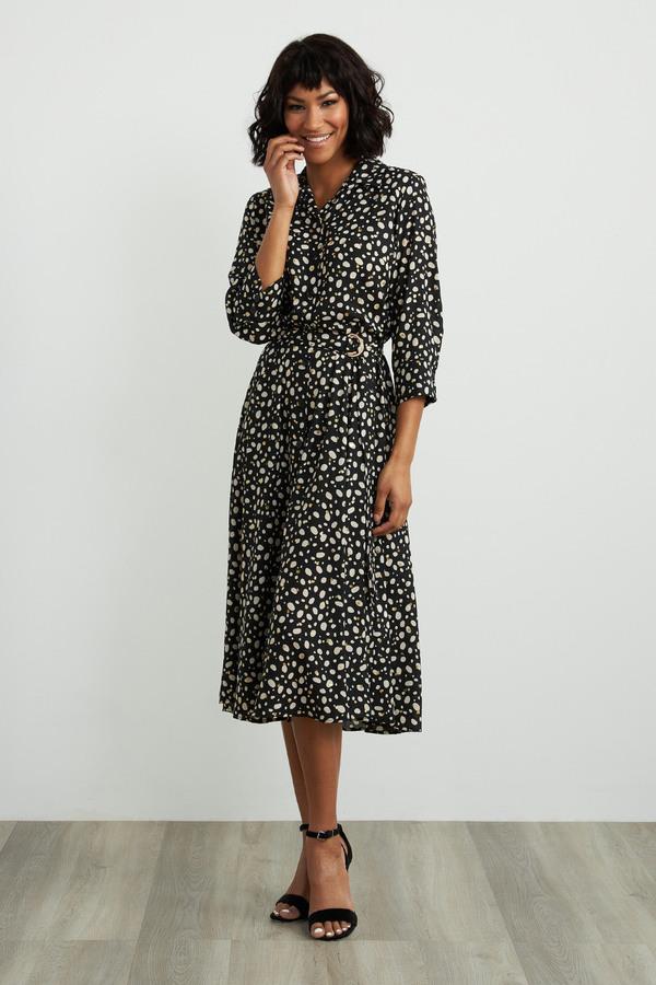 Joseph Ribkoff Robes Noir/Ecru Style 211031