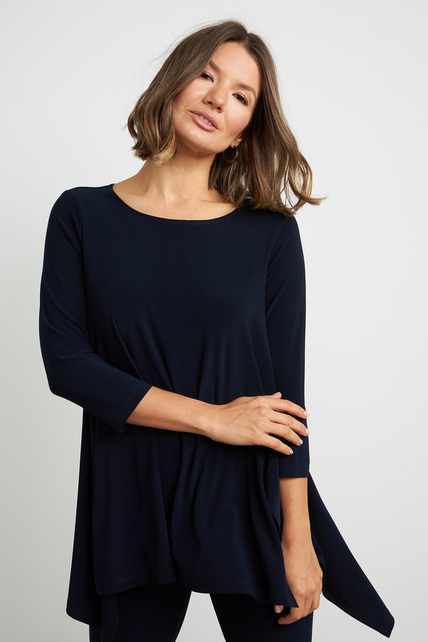 Joseph Ribkoff Relaxed Fit Top 211032c. Midnight Blue