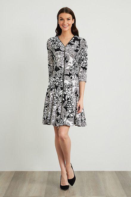 Joseph Ribkoff Front Zip Floral Dress Style 211041
