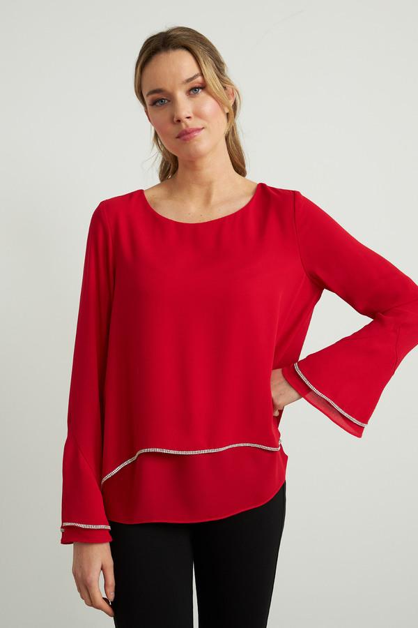 Joseph Ribkoff Chemises et blouses Rouge A Levres 173 Style 211043