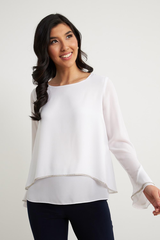 Joseph Ribkoff Chemises et blouses Blanc Cassé Style 211043