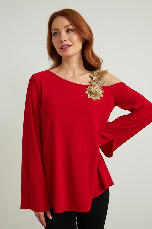 Joseph Ribkoff Lipstick Red 173 Shirts & Blouses Style 211051