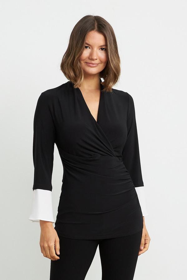 Joseph Ribkoff Black/Off White Shirts & Blouses Style 211062