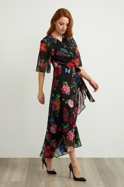 Joseph Ribkoff Black/Multi Dresses Style 211063
