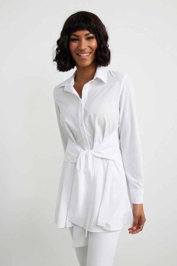 Joseph Ribkoff Optic White Shirts & Blouses Style 211072