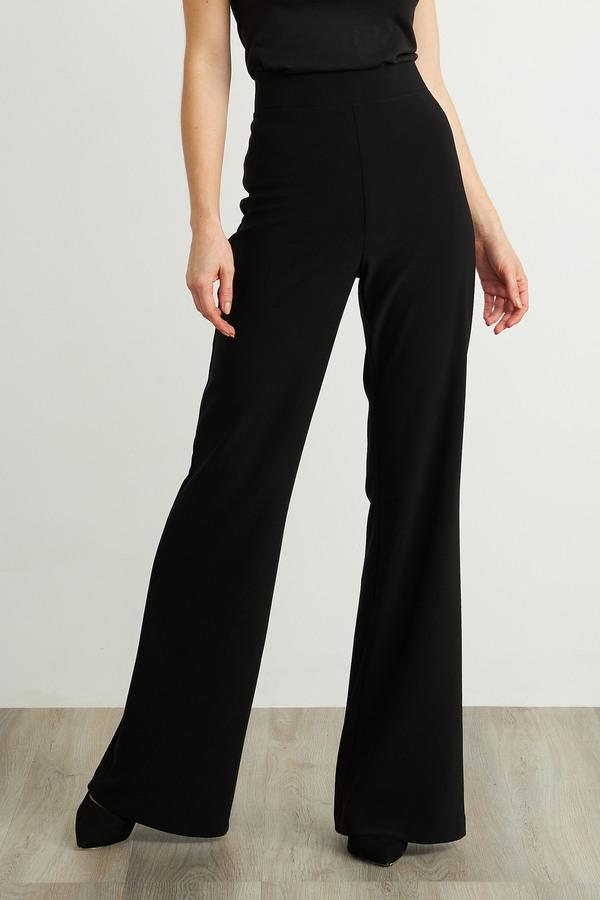 Joseph Ribkoff Flared Leg Pants Style 211090. Black