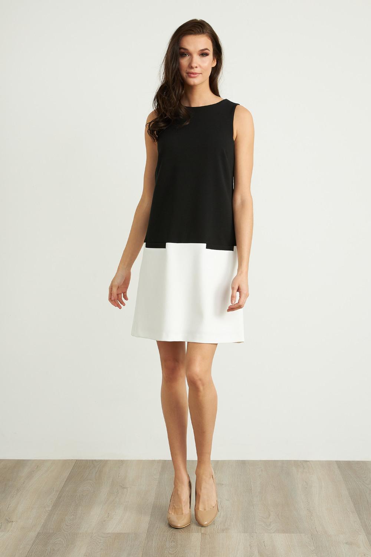Joseph Ribkoff Black/Vanilla Dresses Style 211091