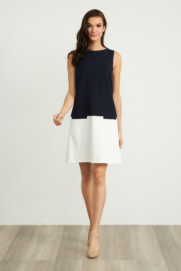 Joseph Ribkoff Midnight Blue/Vanilla Dresses Style 211091