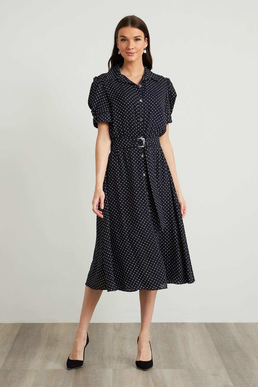 Joseph Ribkoff Robes Bleu Minuit/Vanille Style 211102