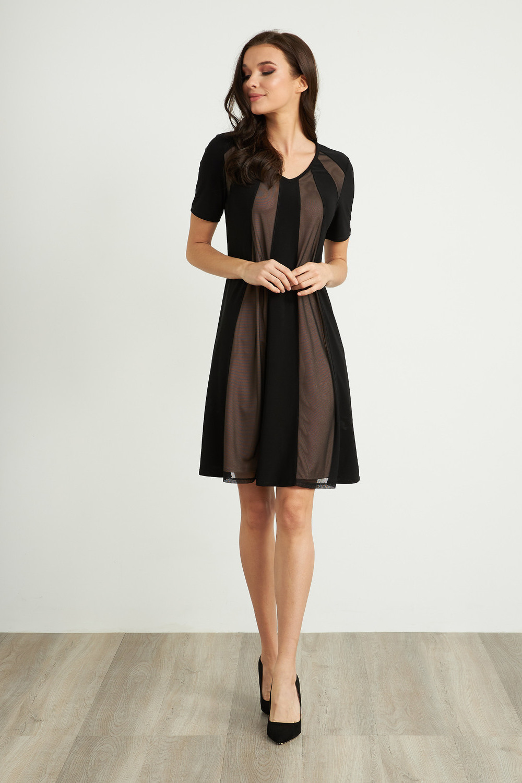 Joseph Ribkoff Robes Noir Style 211105