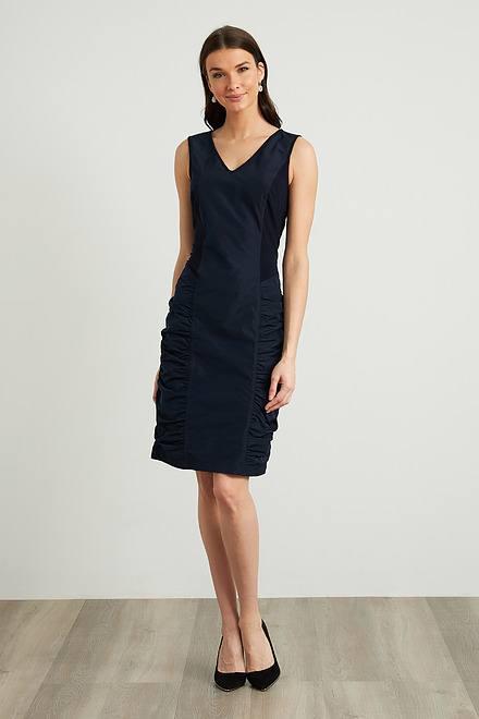 Joseph Ribkoff Shirred Taffeta Dress Style 211114