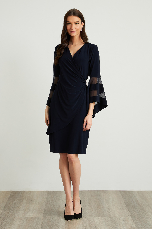 Joseph Ribkoff Midnight Blue Dresses Style 211118