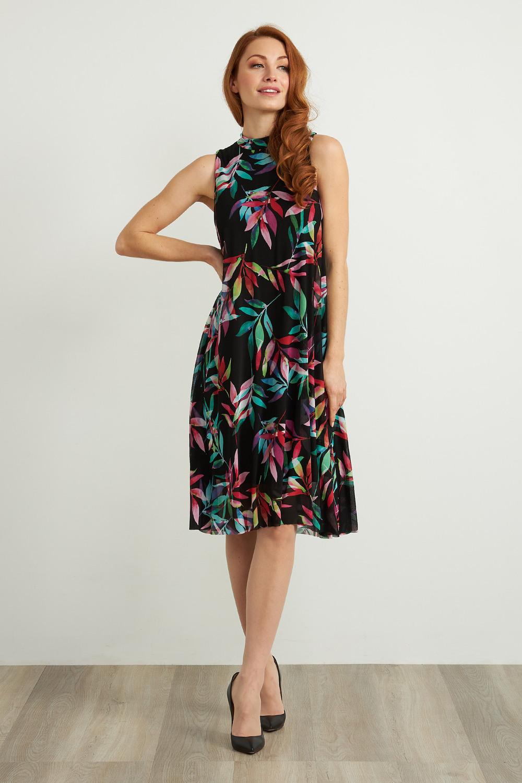 Joseph Ribkoff Black/Multi Dresses Style 211135
