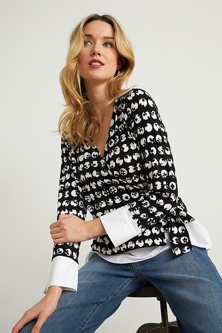 Joseph Ribkoff Black/White Shirts & Blouses Style 211140