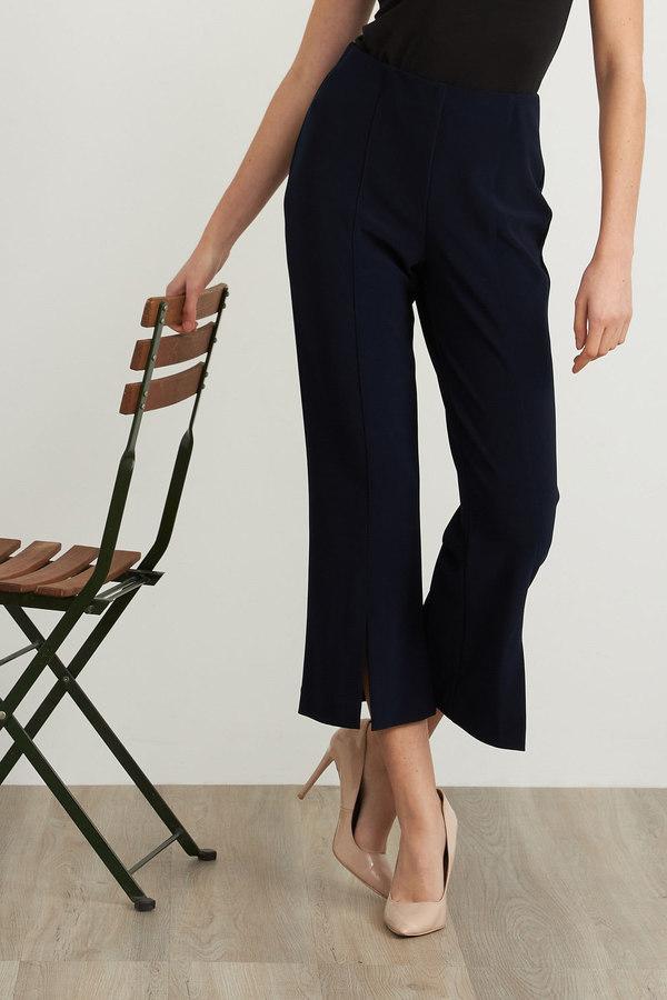 Joseph Ribkoff Cropped Flared Pants Style 211151. Midnight Blue