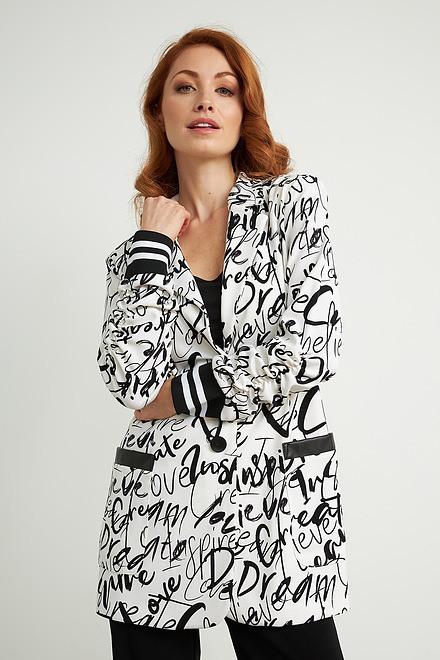 Joseph Ribkoff Vanilla/Black Blazers Style 211152