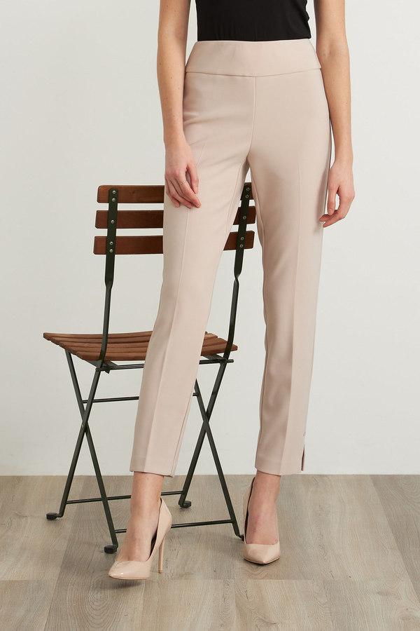 Joseph Ribkoff High-Rise Cropped Pants Style 211158. Sand