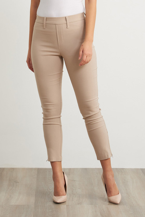 Joseph Ribkoff Stretch Cropped Pants Style 211159. Sand