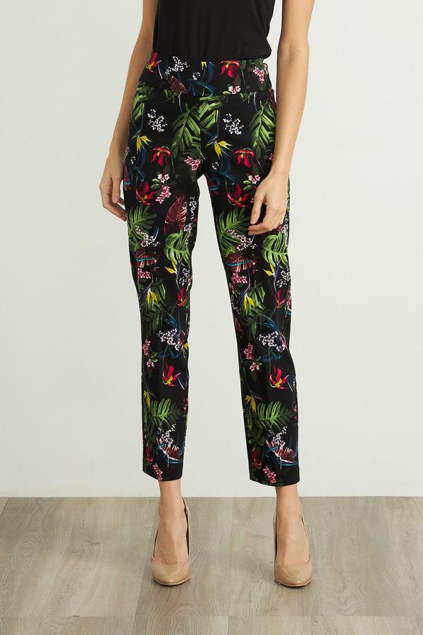 Joseph Ribkoff Black/Multi Pants Style 211161