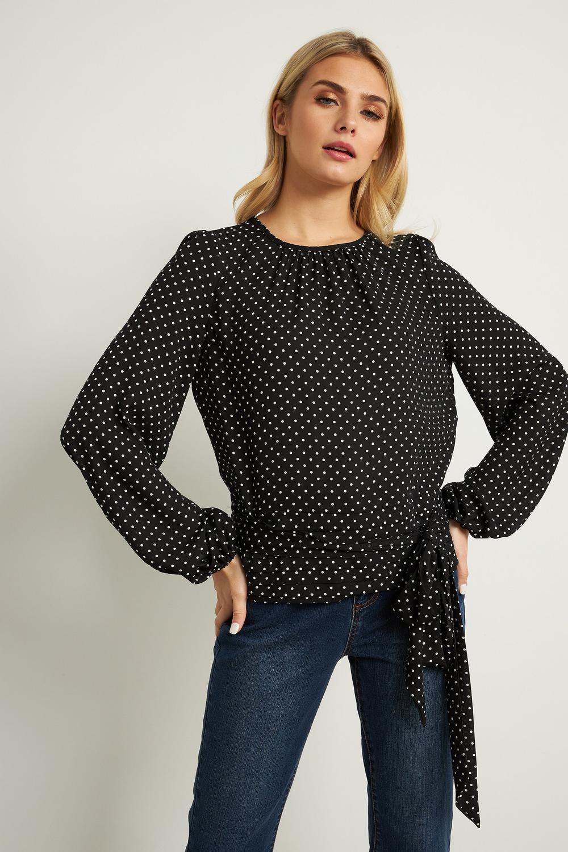 Joseph Ribkoff Chemises et blouses Noir/Vanille Style 211164