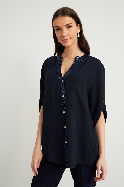 Joseph Ribkoff Midnight Blue Shirts & Blouses Style 211170