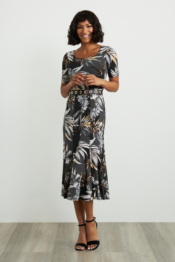 Joseph Ribkoff Robes Noir/Multi Style 211186