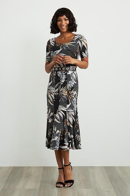 Joseph Ribkoff Tropical Print Short Sleeve Dress Style 211186