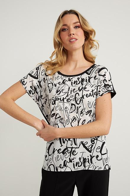 Joseph Ribkoff Vanilla/Black Tees & Camis Style 211206