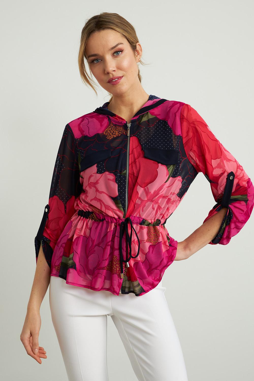Joseph Ribkoff Pink/Multi Twin Sets Style 211213