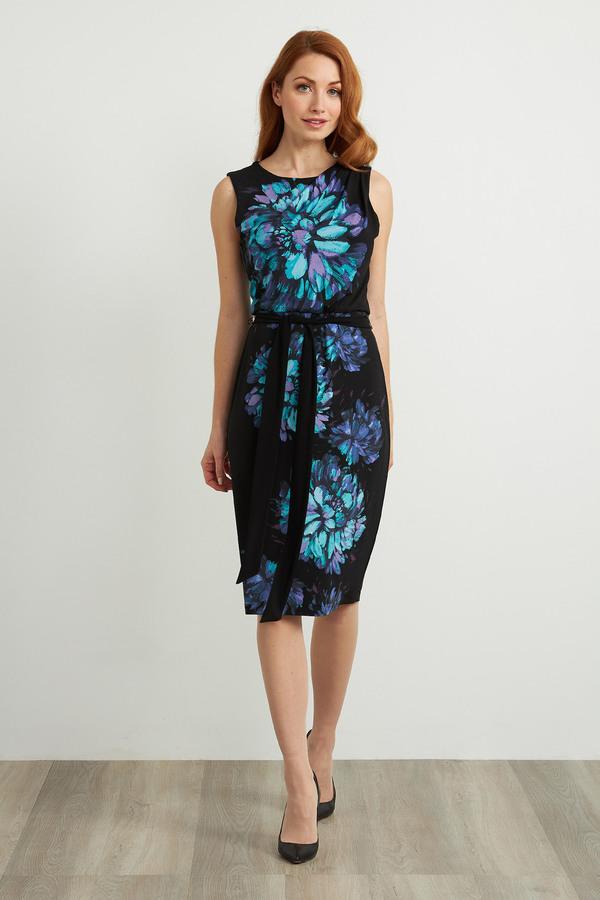 Joseph Ribkoff Robes Noir/Multi Style 211220
