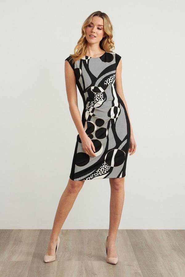 Joseph Ribkoff Robes Noir/Ecru Style 211222
