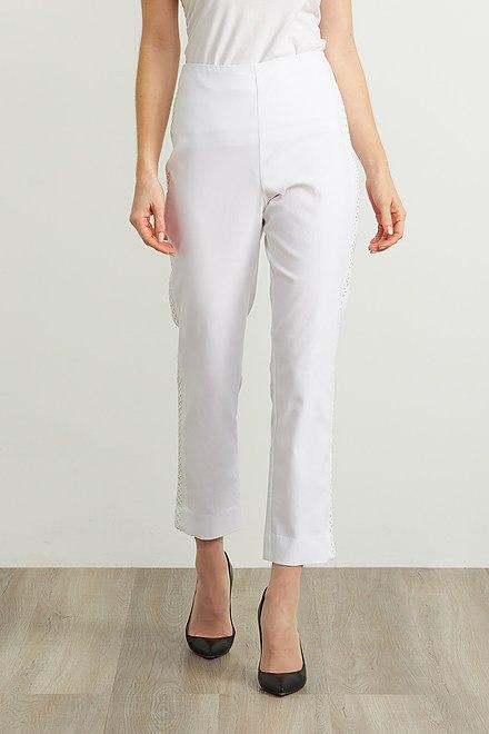 Joseph Ribkoff Embroidered Trim Pants Style 211241