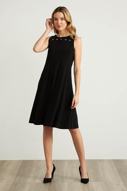 Joseph Ribkoff Grommet Detail A-Line Dress Style 211244