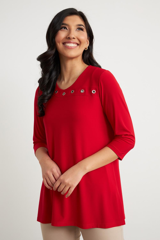 Joseph Ribkoff Lipstick Red 173 Shirts & Blouses Style 211255
