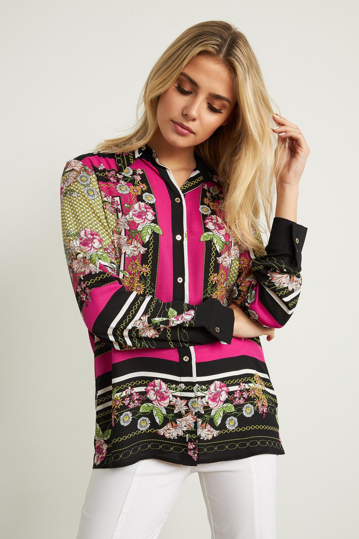 Joseph Ribkoff Black/Multi Shirts & Blouses Style 211270