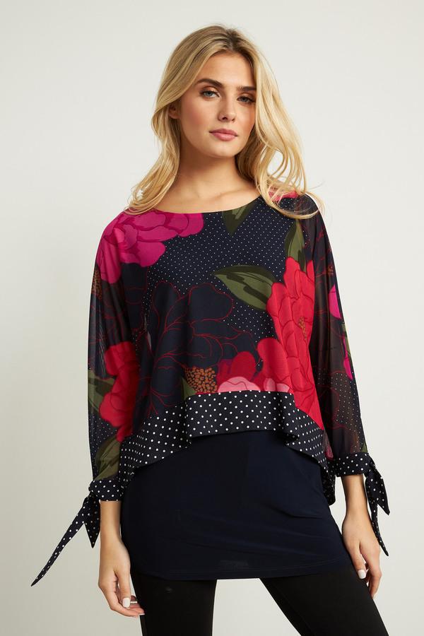 Joseph Ribkoff Tuniques Rose/Multi Style 211278