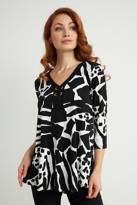 Joseph Ribkoff Vanilla/Black Tunics Style 211285