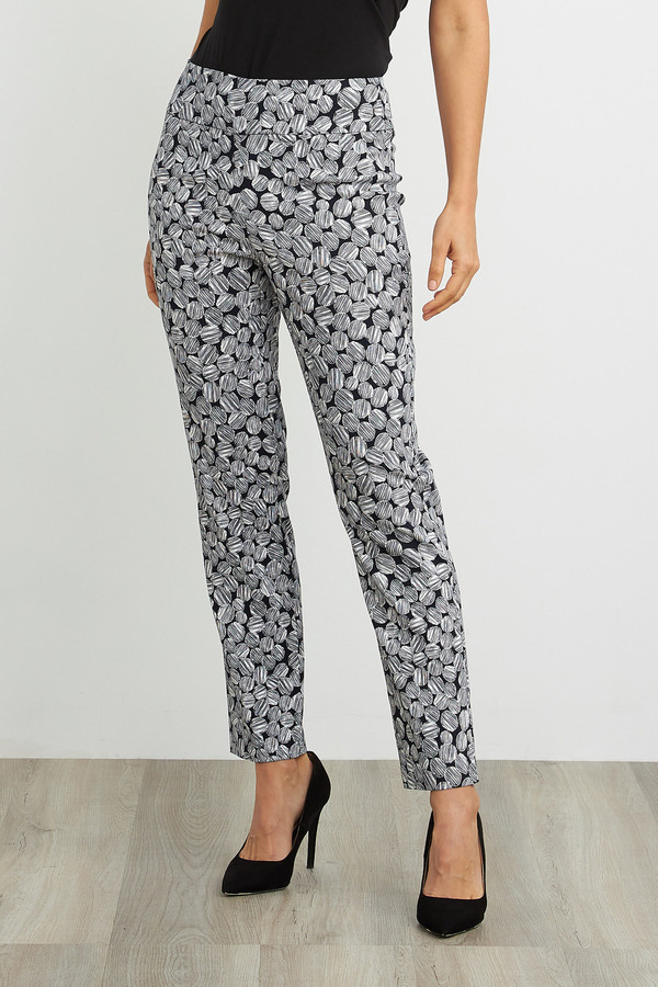 Joseph Ribkoff Pantalons Marine/Blanc Style 211290